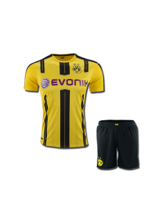 KIDS Borrusia Dortmund Football Jersey And Shorts Home 16 17 Season