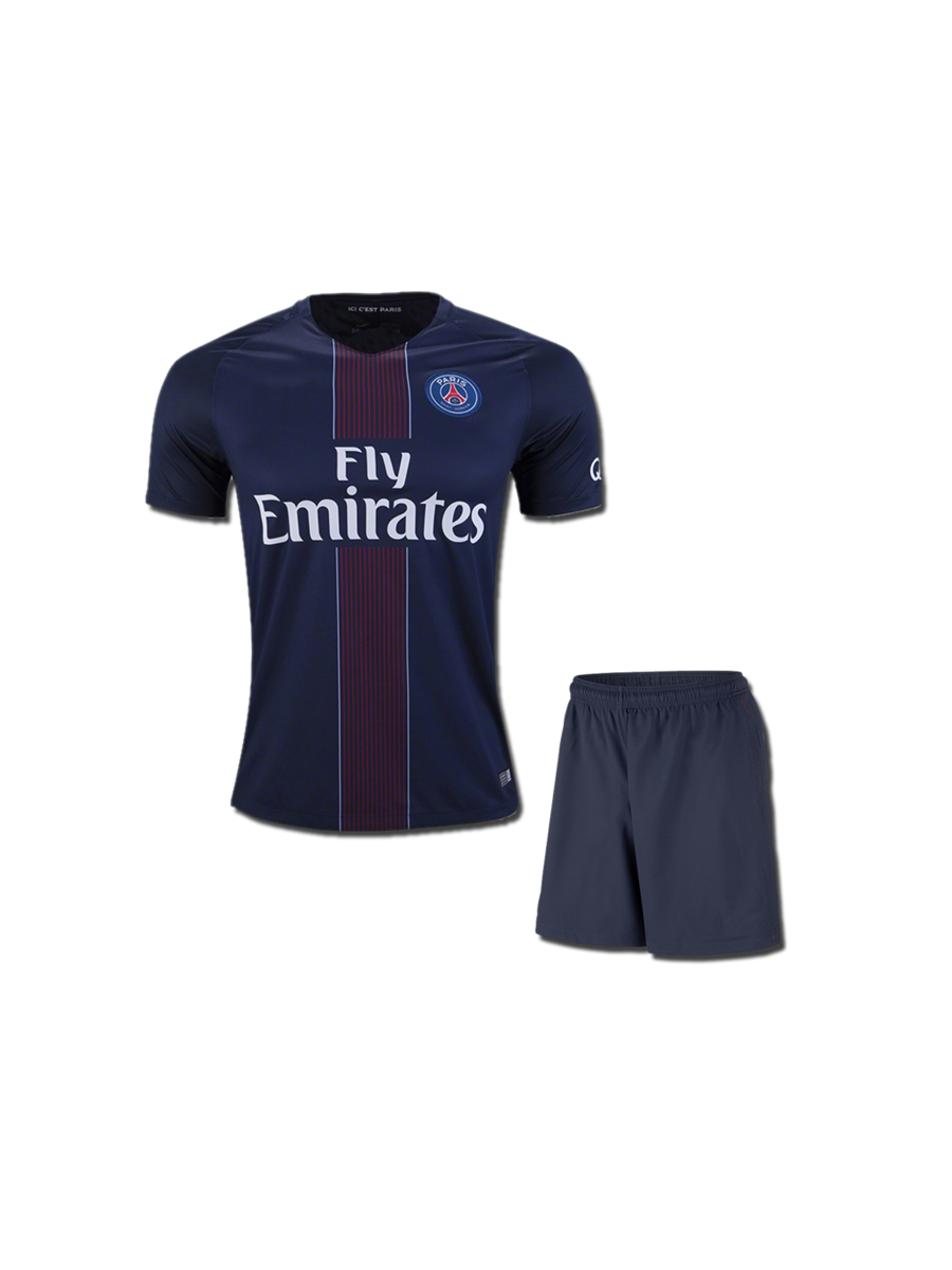 wholesale dealer 04899 09ff2 KIDS PSG Football Jersey And Shorts Home 16 17 Season