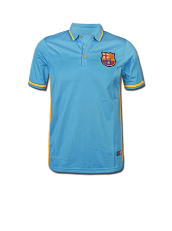 Barcelona Logo T Shirt Jersey Light Blue