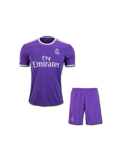 Kids Real Madrid Football Jersey And Shorts Away 16 17 Season