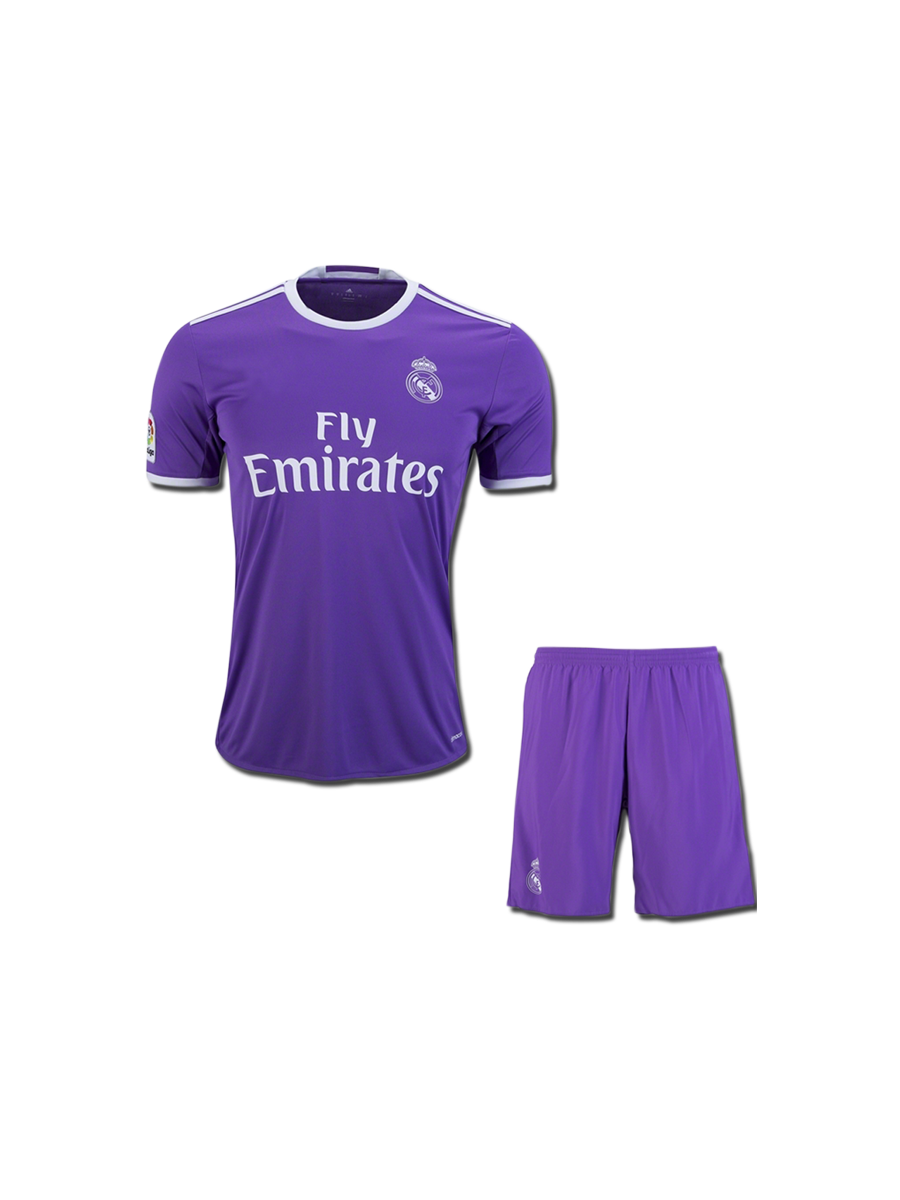 newest collection 99cc0 50157 KIDS Real Madrid Football Jersey And Shorts Away 16 17 Season