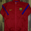 Barcelona FC Premium Quality Winter Jacket RedColor
