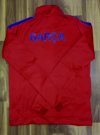 Barcelona FC Premium Quality Winter Jacket RedColor Back