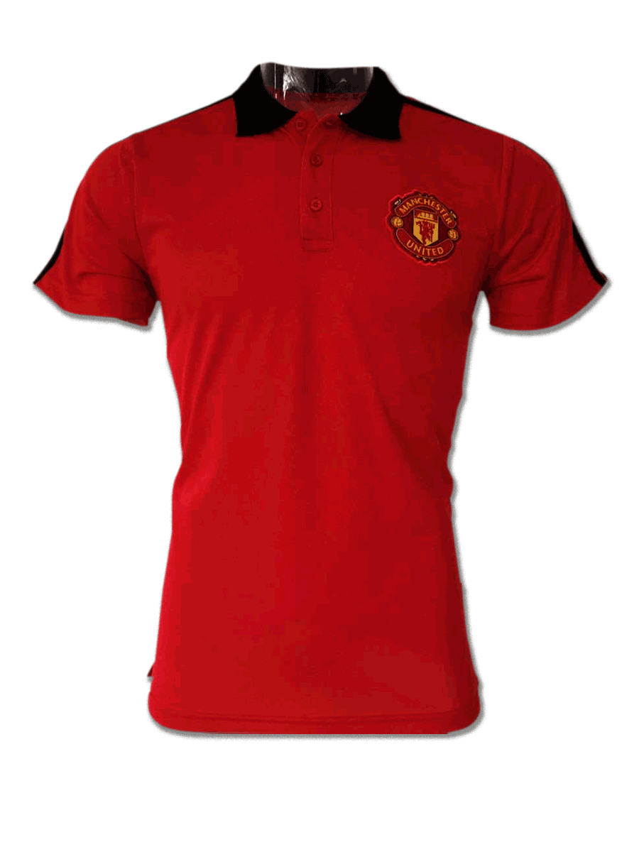 Manchester United Red Color Black Collar Polo T Shirt - Zeal Evince ... b659398a8