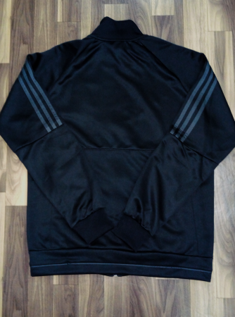 Real Madrid FC Premium Quality Winter Jacket Black Color Back