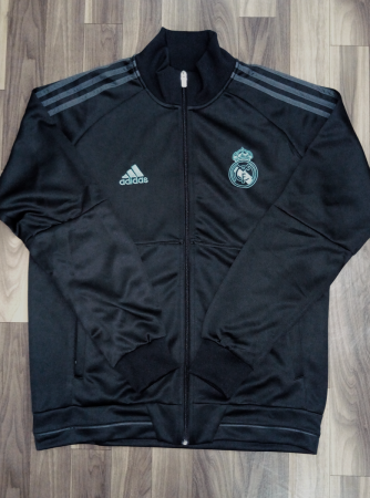 Real Madrid FC Premium Quality Winter Jacket Black Color Front