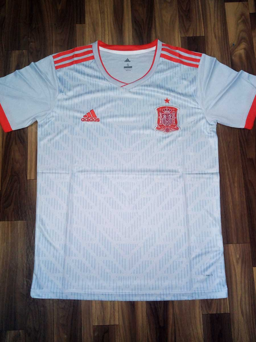 9d09d76e5 Spain Football Jersey Away For 2018 FIFA World CUP Premium Quality ...