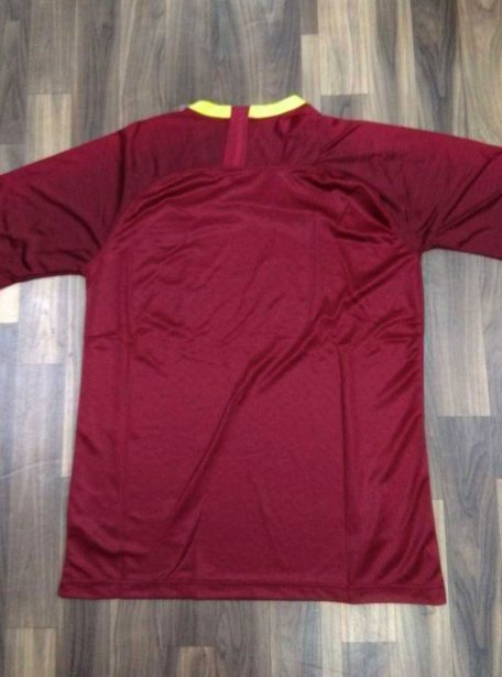 AS-Roma-Football-Jersey-And-Shorts-Home-18-19-Season-Back