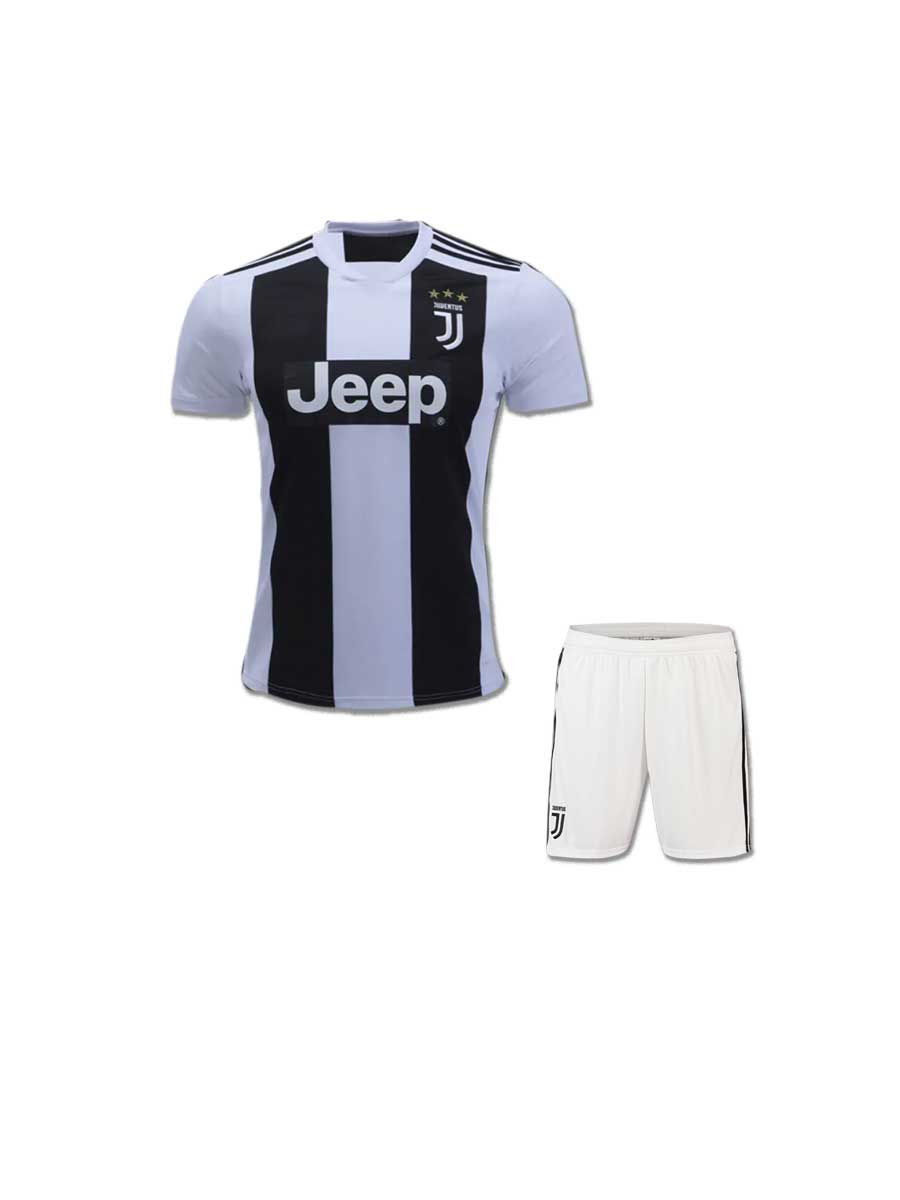 92a875c3 Kids Juventus Football Jersey And Shorts Home 18 19 Season - Zeal ...