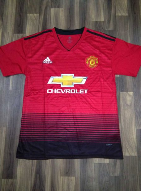 Manchester-United-Football-Jersey-And-Shorts-Home-Kit-18-19-Season-Front