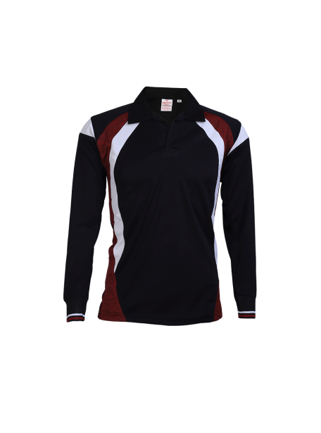 Black-Multi-Color-Long-Sleeve-Sports-Jersey-Design-Front