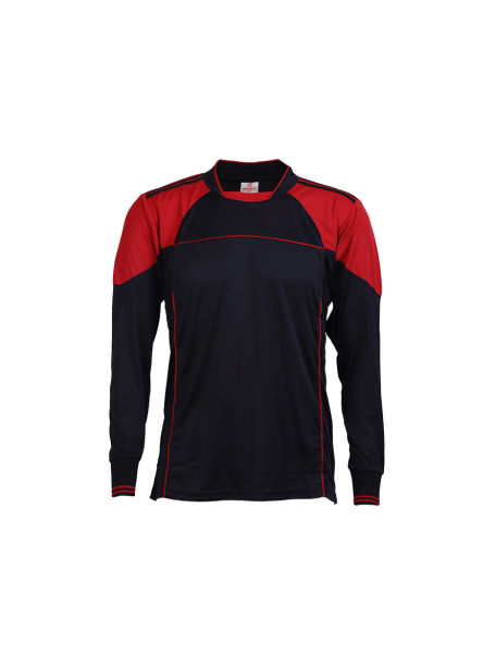Black-Red-Color-Long-Sleeve-Sports-Jersey-Design-Front
