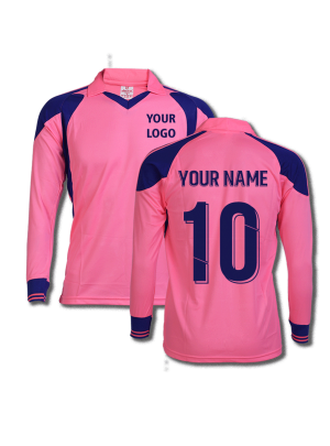 Pink-Color-Long-Sleeve-Sports-Jersey-Design-Front-Back