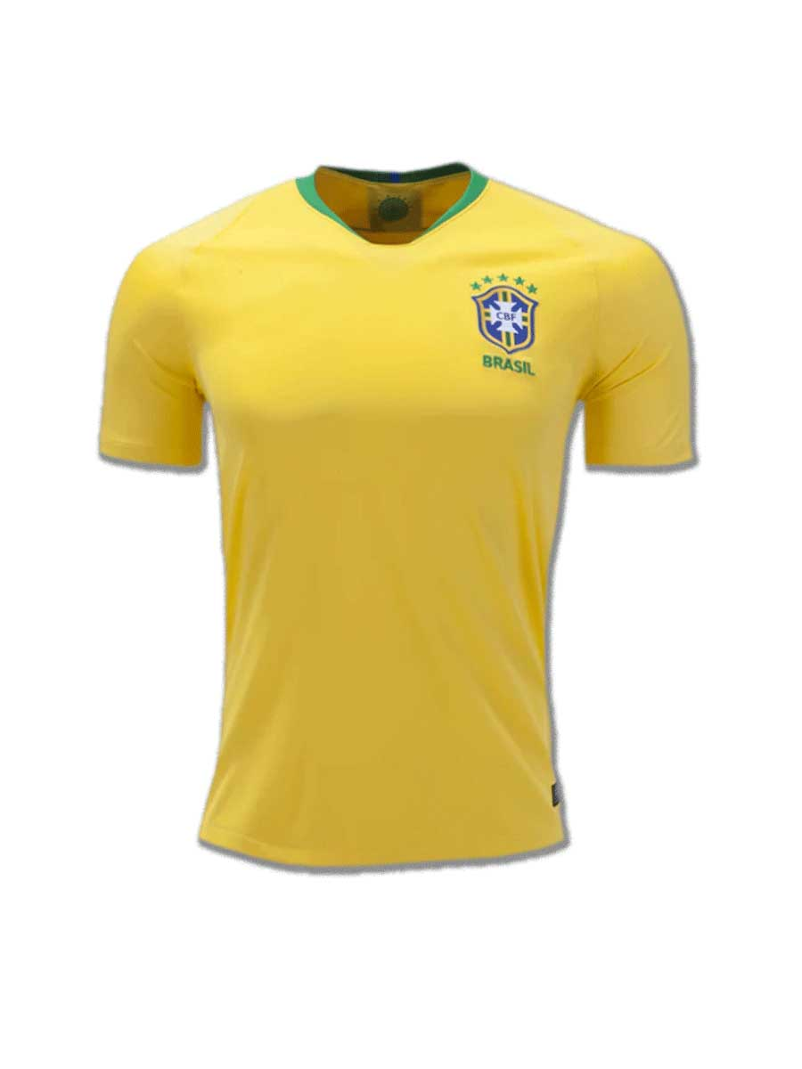 fd7955dcb0a Brazil Football Jersey Home For 2018 FIFA World CUP Premium Quality ...