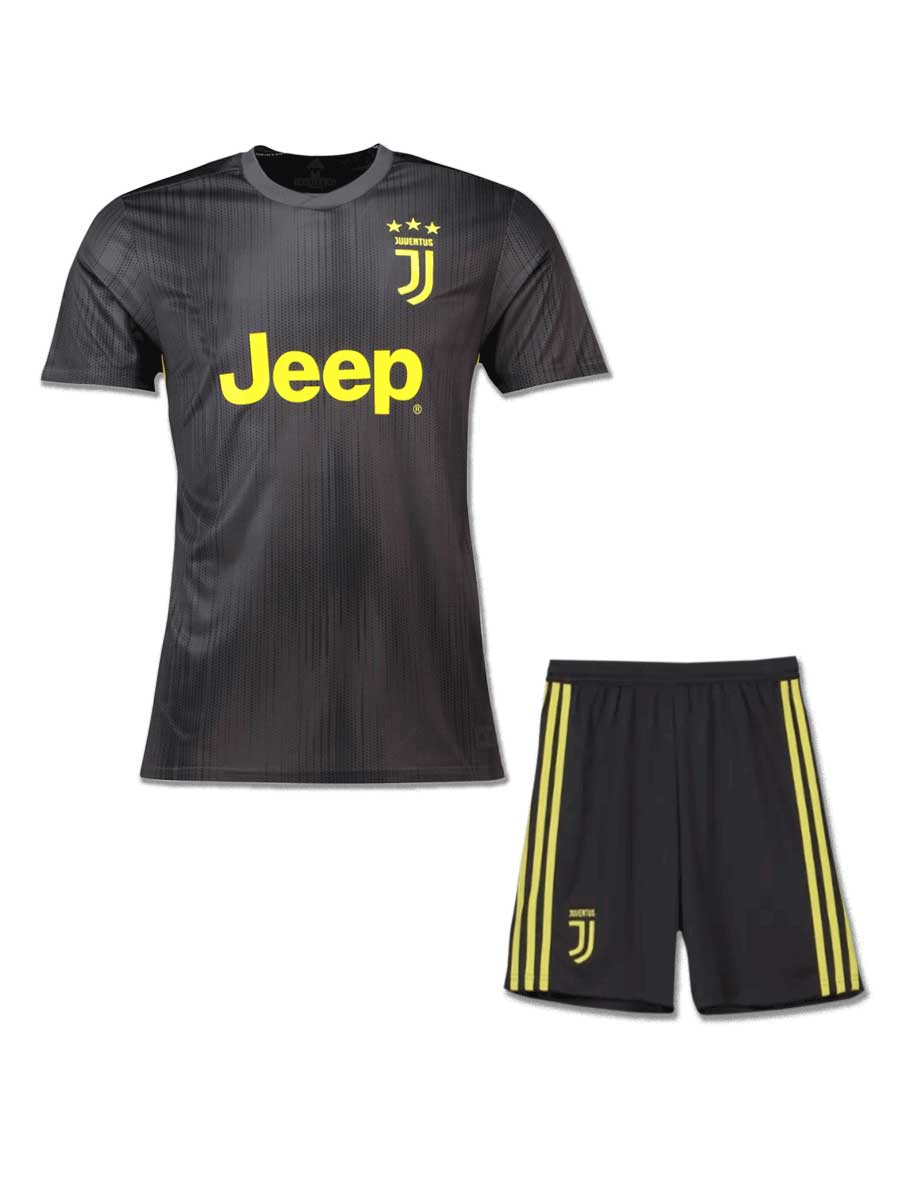 low priced b1dc5 6eae3 Juventus Football Jersey And Shorts 3rd Kit 18 19 Season