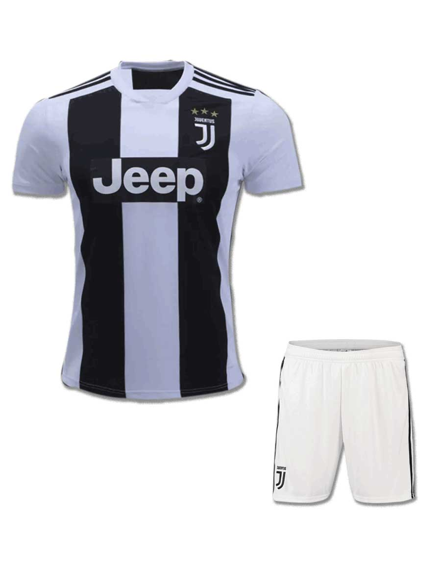 3181f0310 Juventus Football Jersey And Shorts Home 18 19 Season - Zeal Evince ...