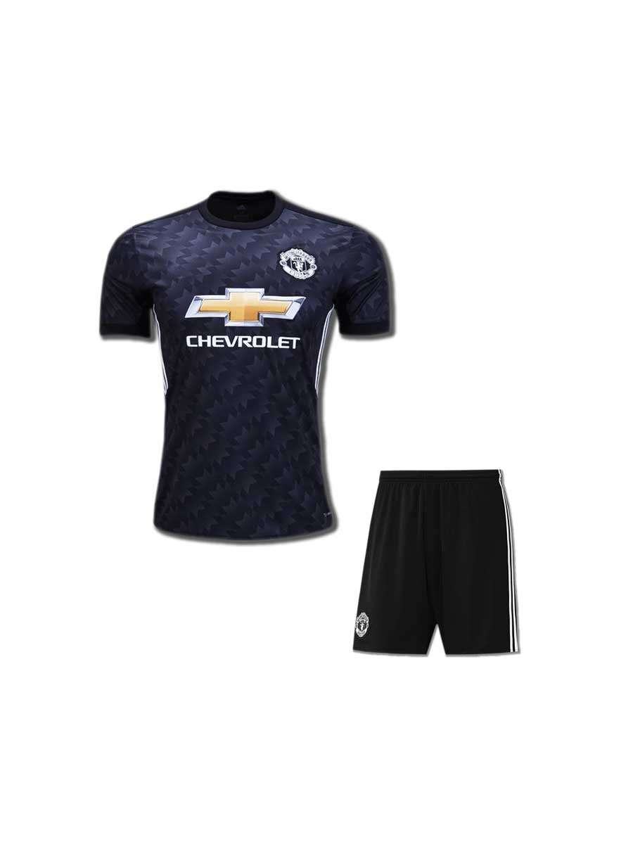 finest selection d1f3c 613c7 KIDS Manchester United Football Jersey and Shorts Away 17 18 Season
