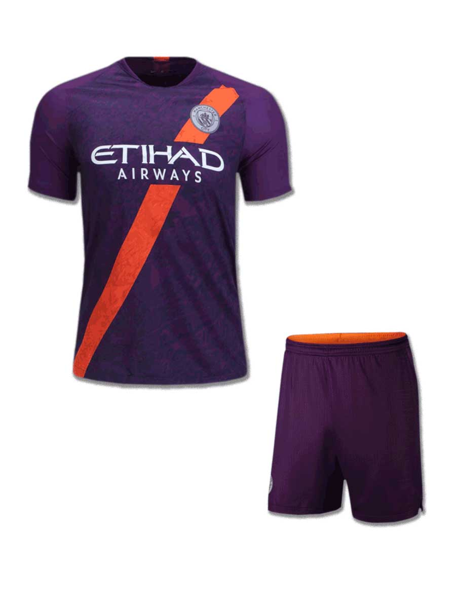 8339380eeb3fd Manchester City Football Jersey And Shorts 3rd Kit 18 19 Season ...