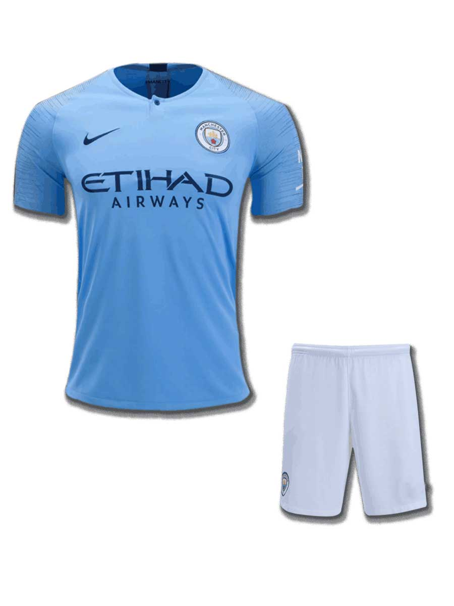 747dda82645bb Manchester City Football Jersey And Shorts Home 18 19 Season - Zeal ...