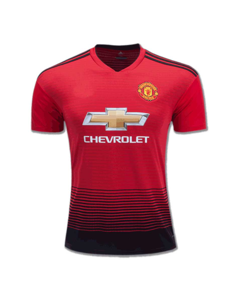 45dc582a9 Manchester United Football Jersey Home 18 19 Season Premium - Zeal ...