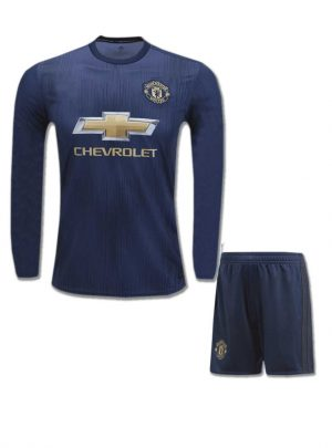 Manchester-United-Long-Sleeves-Football-Jersey-And-Shorts-3rd-Kit-18-19-Season