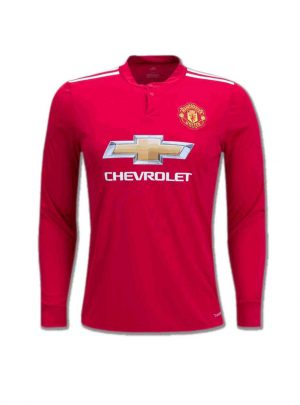 Manchester-United-Long-Sleeves-Football-Jersey-Home-17-18-Season