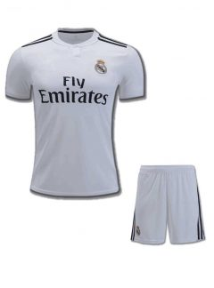 Real-MadridFootball-Jersey-And-Shorts-Home-18-19-Season