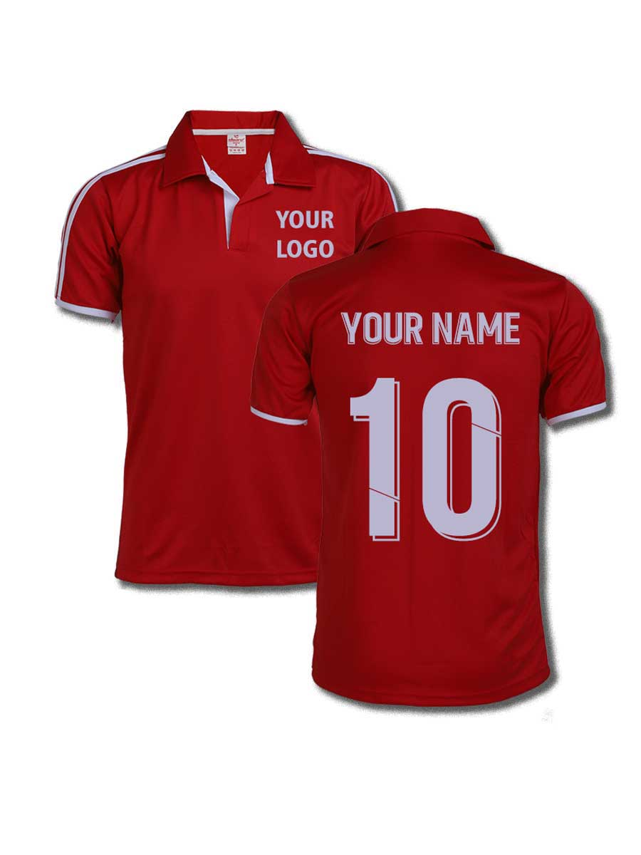 d973b2bf0b3a40 Red Color Sports Jersey Design - Zeal Evince Merchandise