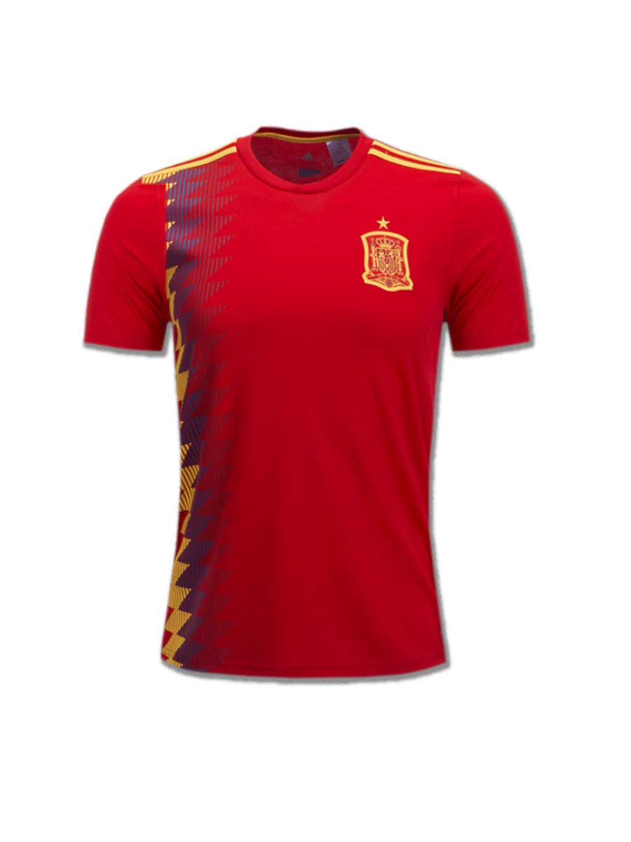 edead63cc10 Spain Football Jersey Home For 2018 FIFA World CUP Premium Quality ...