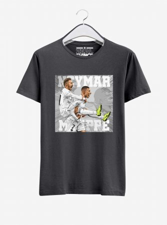 Neymar-and-Mbappe-Graphic-T-Shirt-01-Men-Charcoal-Melange-Hanging
