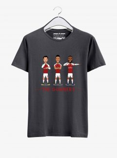 Arsenal--The-Gunners-T-Shirt-01-Men-Charcoal-Melange-Hanging