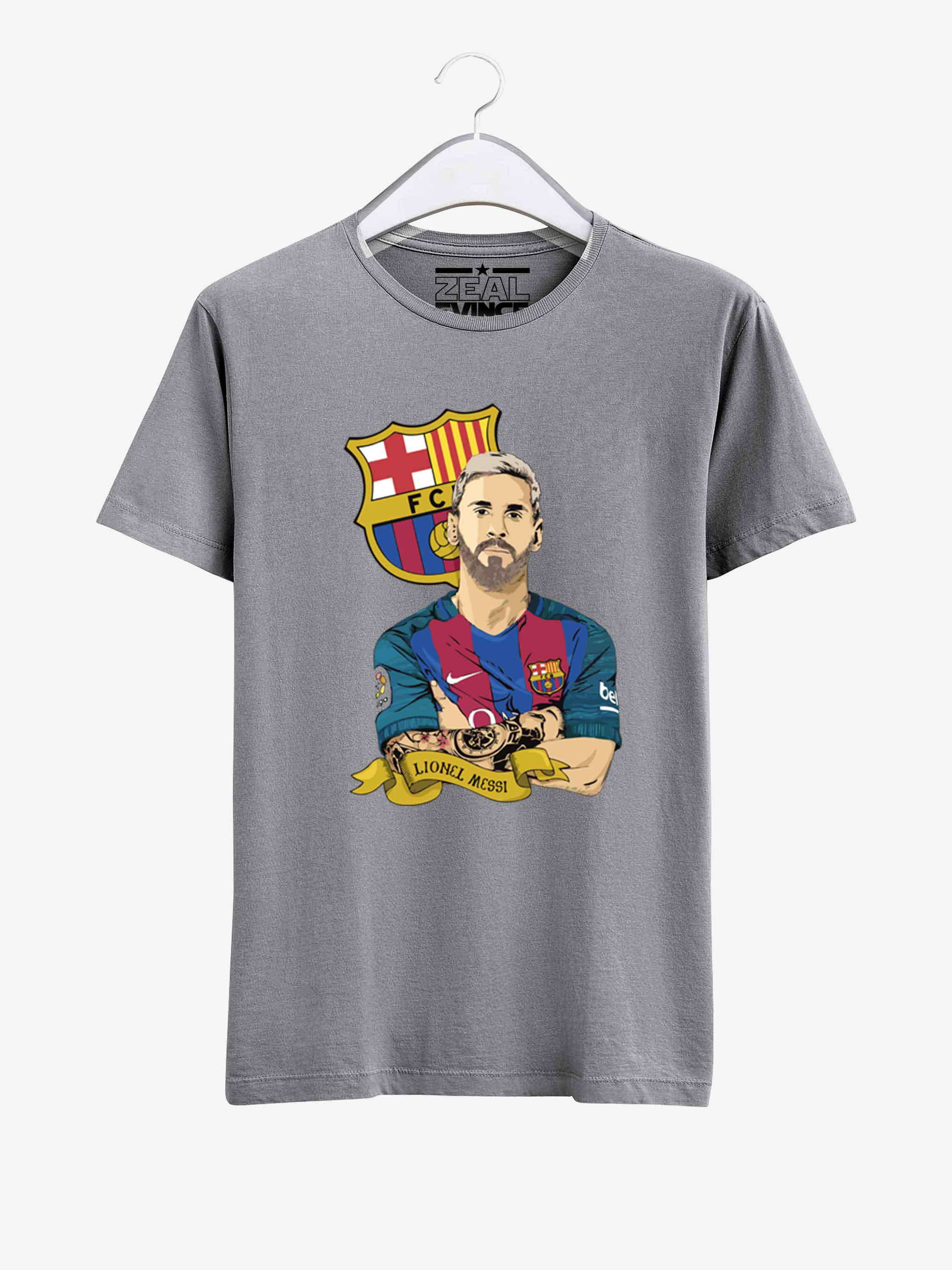 hot sale online cb028 829e8 Barcelona Lionel Messi T Shirt 01 Men