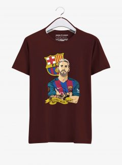 Barcelona-Lionel-Messi-T-shirt-01-Men-Maroon-Hanging