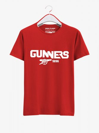 Arsenal-Gunners-Crest-Art-T-Shirt-01-Red