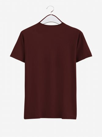 Zeal-Evince-Graphic-T-Shirt-Maroon-Back