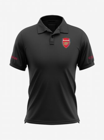 Arsenal-Crest-Black-Polo-T-Shirt-Front