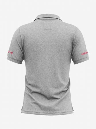 Arsenal-Crest-Grey-Melange-Polo-T-Shirt-Back