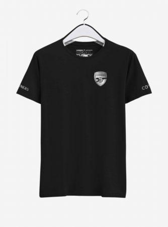 Arsenal-Silver-Crest-Black-Round-NeckT-Shirt-Front2