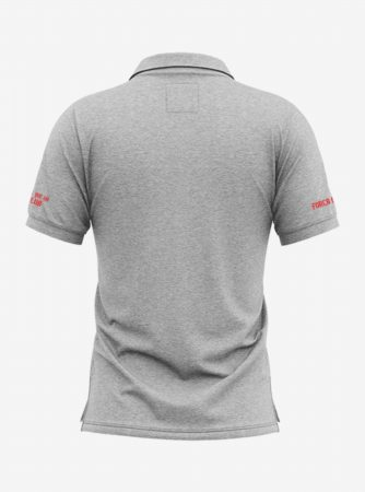 Barcelona-Crest-Grey-Melange-Polo-T-Shirt-Back
