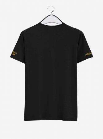 Barcelona Golden Crest Black Round Neck T Shirt Back