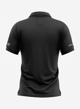 Barcelona-Silver-Crest-Black-Polo-T-Shirt-Back