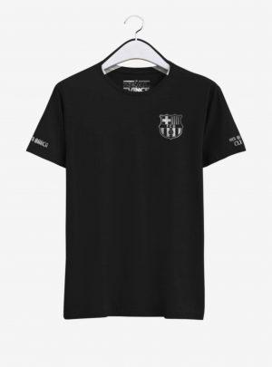 Barcelona-Silver-Crest-Black-Round-neck--T-Shirt-Front-2-