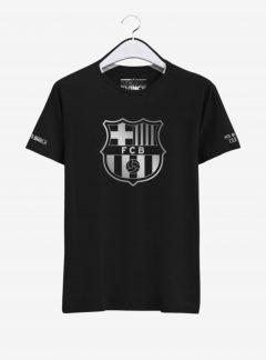 Barcelona Silver Crest Round Neck T Shirt