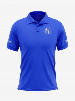Barcelona-Silver-Crest-Royal-Blue-Polo-T-Shirt-Front