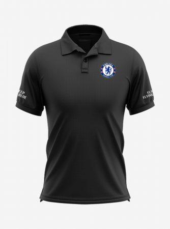 Chelsea-Crest-Black-Polo-T-Shirt-Front