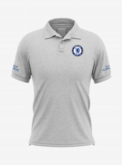 Chelsea-Crest-Grey-Melange-Blue-Polo-T-Shirt-Front