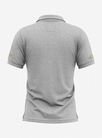 Chelsea-Golden-Crest-Grey-Melange-Polo-T-Shirt-Back