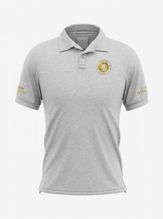 Chelsea-Golden-Crest-Grey-Melange-Polo-T-Shirt-Front