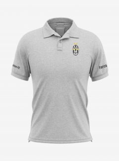 Juventus-Crest-Grey-Melange-Polo-T-Shirt-Front