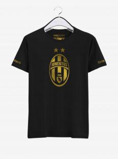 Juventus Golden Crest Round Neck T Shirt Front